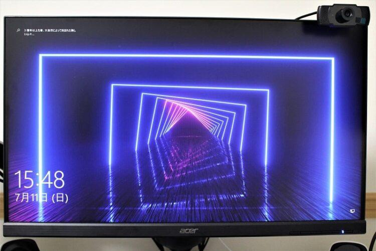 ④横モニター:Acer 24.5インチ ゲーミングモニター
